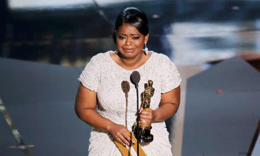 Octavia Spencer with her 2012 best supporting actor Oscar for The Help
