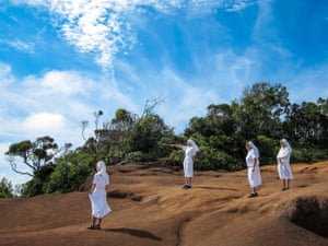 Nuns visiting Kauai in the Hawaiian archipelago