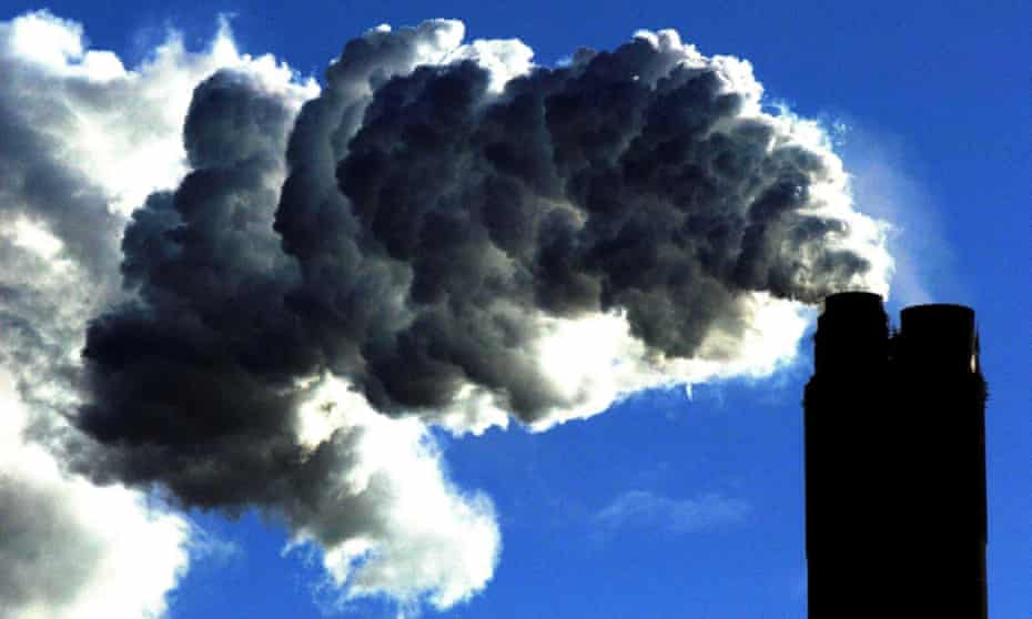 Smoke from a coal fired plant