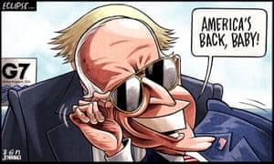 Ben Jennings cartoon 11.6.21: Joe Biden eclipses Boris Johnson