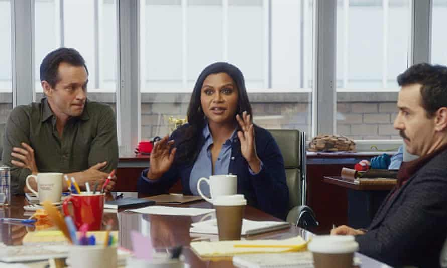 Room with a view … Hugh Dancy, Mindy Kaling and Max Casella in Late Night.