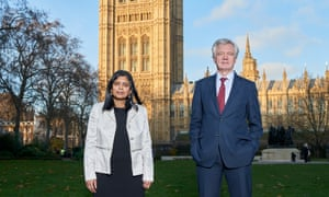 'All this evidence makes it very plain that vitamin D has a material effect': Tory MP David Davis with Labour MP Rupa Huq.