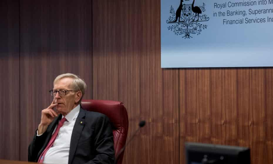 Commissioner Kenneth Hayne during the banking royal commission's initial public hearing in February.