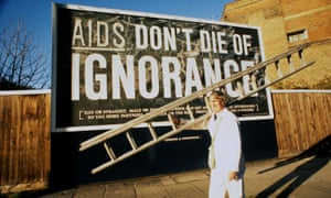 'Panic and speculation was spreading' … a billboard in 1986.