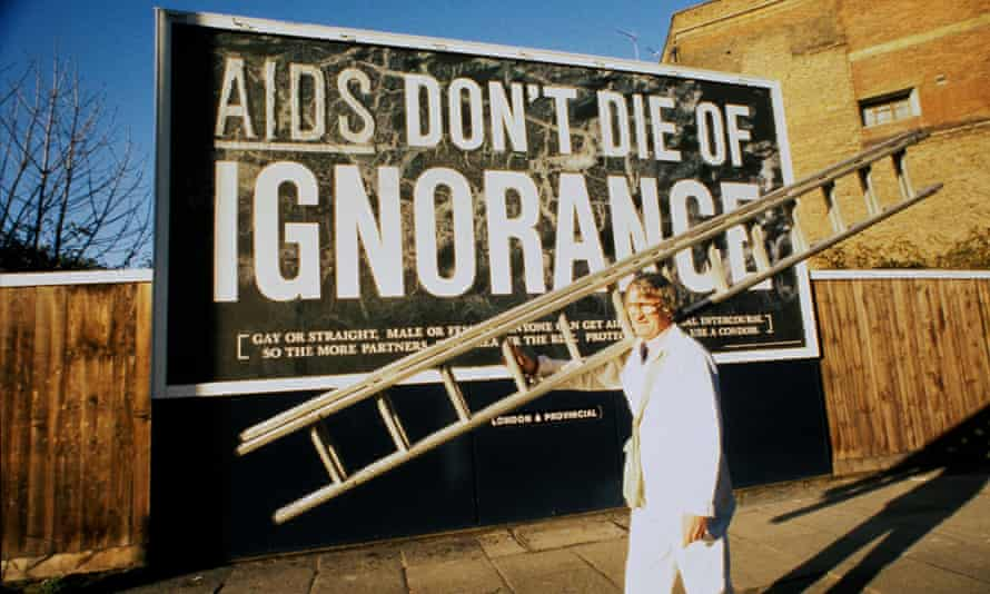A government health warning poster, 1986.