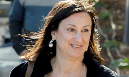 Daphne Caruana Galizia, who was investigating political corruption, was killed by a car bomb.