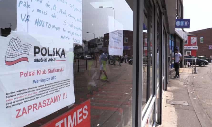 An ad in Polish in Peterborough.
