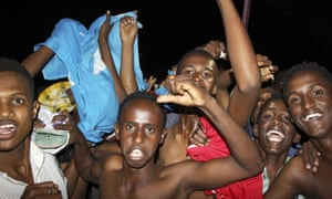 The election result prompted celebrations in the streets.