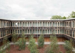 Churchill College's central quad.