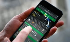 Sports betting on a mobile phone