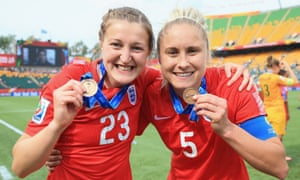 Steph Houghton, right, with her World Cup medal. 'I'm sure we can improve on what we did in the summer,' she said.