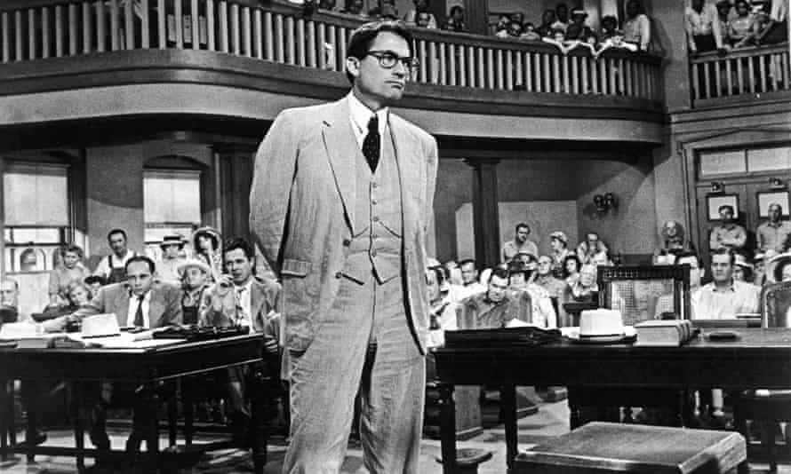 Gregory Peck as Atticus Finch in the 1962 film of To Kill a Mockingbird.