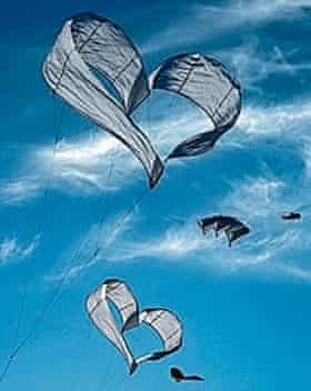 Heart shaped kites