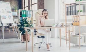 A millennial employee in a modern office