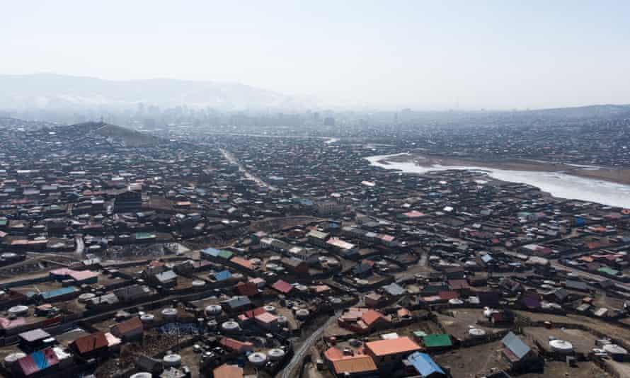 Ulaanbaatar's crowded ger district.