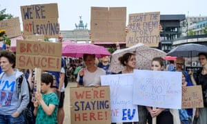 British immigrants protest against Brexit in Berlin.