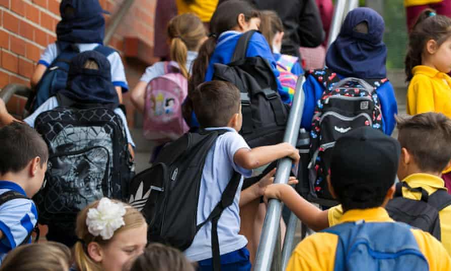 Stock image of school children