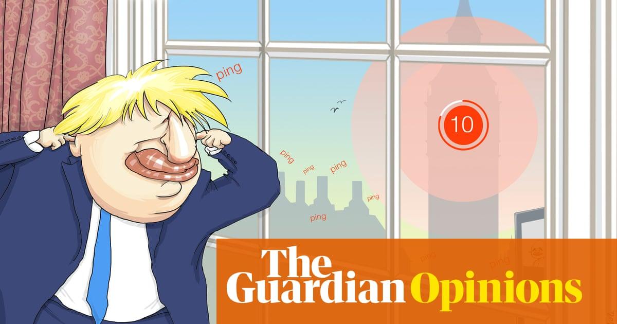 Nicola Jennings on Boris Johnson being pinged by the NHS Covid app – cartoon