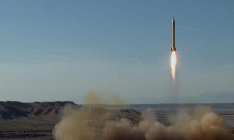 An Iranian ballistic missile test launch in March 2016.