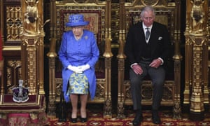 Queen Elizabeth II and Prince Charles.
