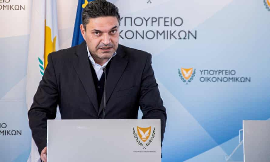 Constantinos Petrides, Cyprus's finance minister