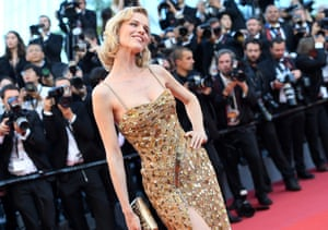 """Eva Herzigova attends the """"Ismael's Ghosts (Les Fantomes d'Ismael)"""" screening and Opening Gala during the 70th annual Cannes Film Festival"""