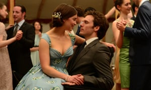 Sam Clafin as Will Traynor and Emilia Clarke as Lou Clark in Me Before You, directed by Thea Sharrock