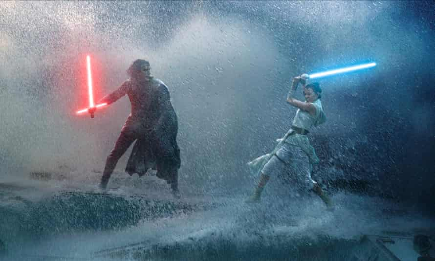 Disappointing … Adam Driver and Daisy Ridley in the 2019 Rise of Skywalker film.