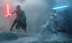 Identity crisis… Adam Driver as Kylo Ren and Daisy Ridley as Rey in Star Wars: The Rise of Skywalker.
