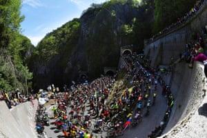 102nd Giro d'Italia. Stage 19 a 151km from Treviso to San Martino di Castrozza 1478m