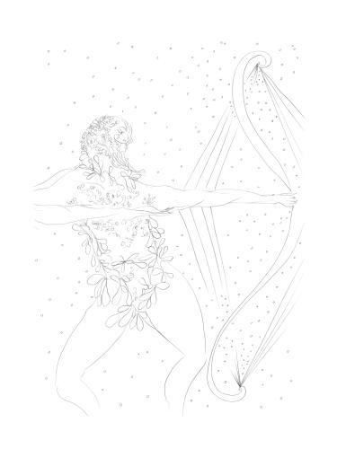Chris Ofili's illustration of Odysseus's return, for Greek Myths: A New Retelling