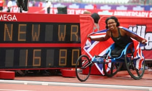 Kare Adenegan previously set a new  T34 100m world record in London last summer.