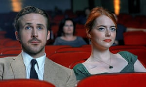 Watching with interest … Ryan Gosling and Emma Stone in La La Land.