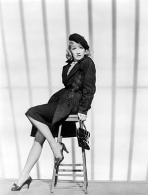 German actress Marlene Dietrich on the set of Manpower directed by Raoul Walsh in 1941.