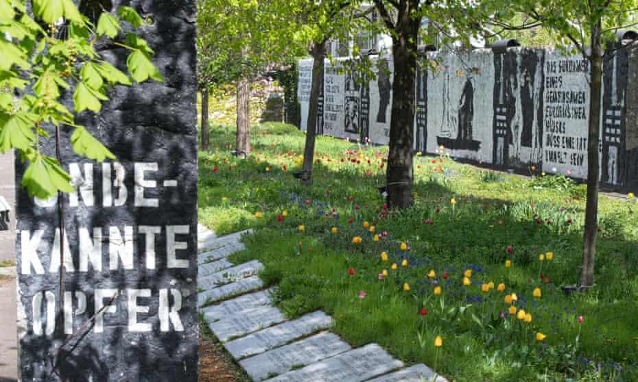Artist Ben Wagin's Parlament der Bäume (Parliament of Trees) in Berlin's Government Quarter.