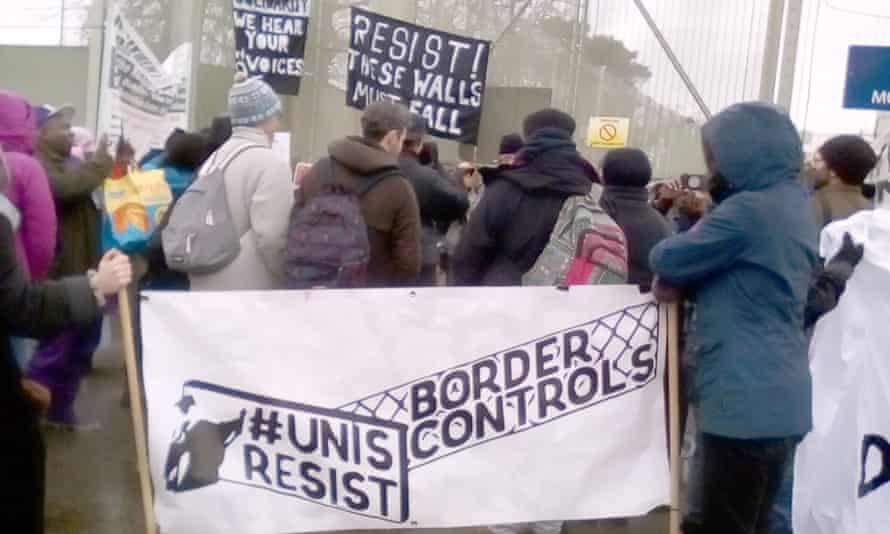 URBC supporters at a rally in January.