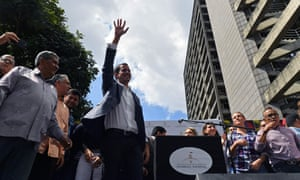 Juan Guaidó, the head of Venezuela's opposition-run parliament, was reportedly taken by agents on Sunday morning and then swiftly released.
