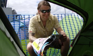 Mark Kennedy, who infiltrated environmental groups for seven years, at Glastonbury festival in 2008.