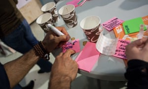 Participants were invited to 'hack their coffee cups'.