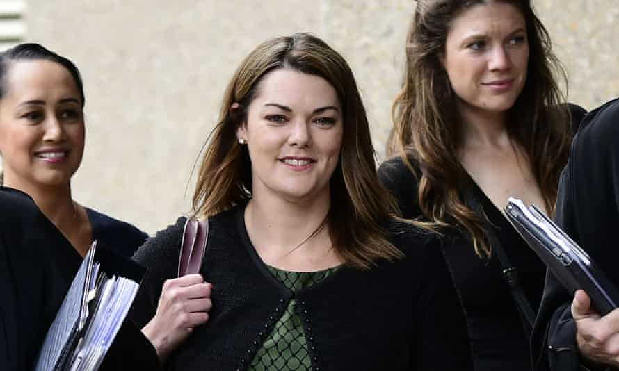 Sarah Hanson-Young arrives for day three of her defamation trial against David Leyonhjelm. She has denied saying all men are rapists