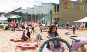 The museum's outdoor sandpit. Eureka! National Children's Museum, Halifax