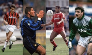Marco van Basten, Diego Simeone, John Barnes and Neville Southall all played in the match between Serie A and the Football League.