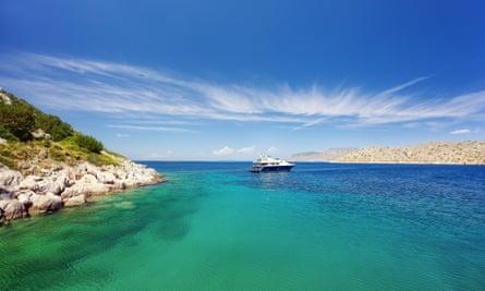 A lagoon in the Greek island of Hydra