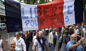'Freedom for all': thousands of protesters took to the streets in Toulouse on Saturday.