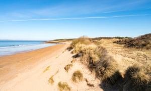 Gullane Beach in East Lothian , Scotland, United Kingdom