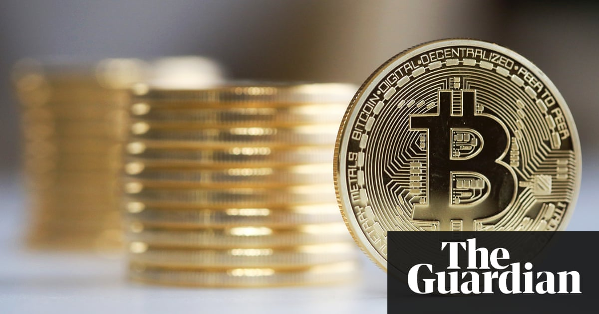 Bitcoin is a fraud that will blow up says jp morgan boss a single bitcoin stands in front of a collection of bitcoins ccuart Choice Image