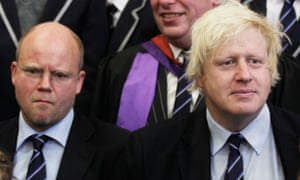 Toby Young (L) at the opening of a free school in London in 2011 with Boris Johnson