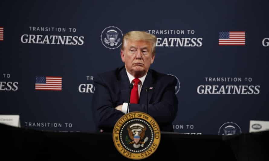 Donald Trump in Ypsilanti, Michigan, on Thursday.