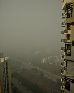 A view from Noida, 6 miles from Delhi.