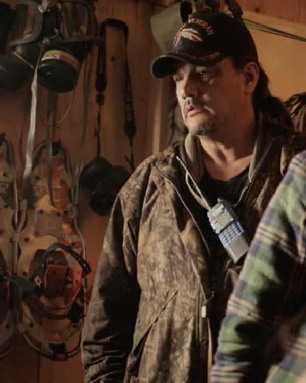 Michael Markus, aka Rattler, at Standing Rock.